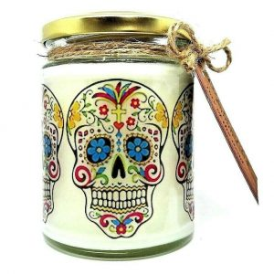 Candy Skull Scented Candle