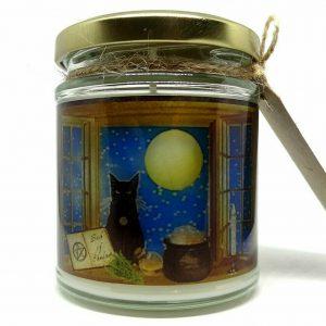 Magical Black Cat Candle