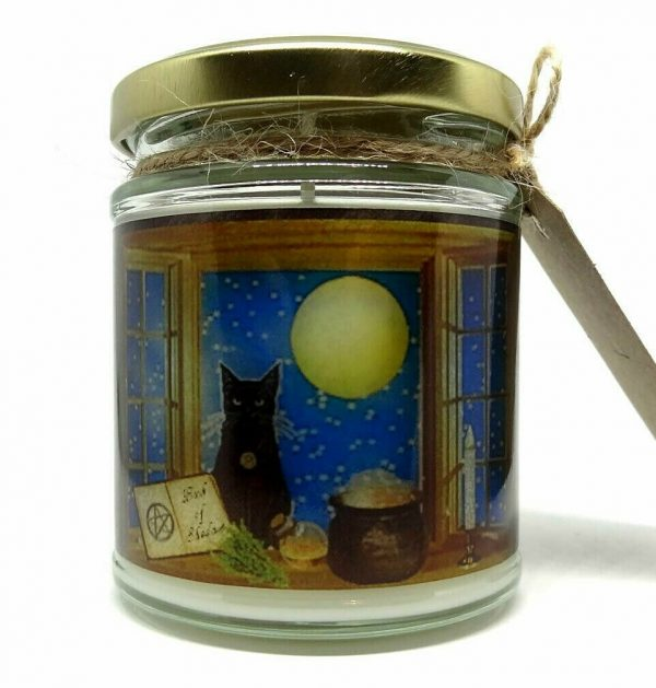 Magical Black Cat Candle