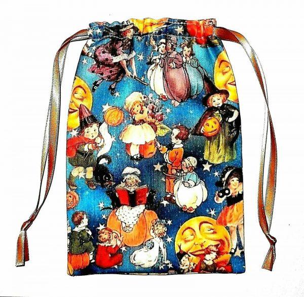 Blue Vintage Halloween Tarot Bag