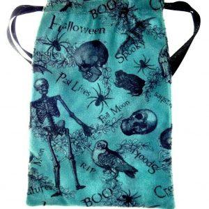 Green Spooky Halloween Tarot Bag