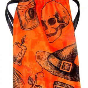 Orange & Black Witchy Tarot Bag