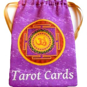Purple Om Tarot Bag