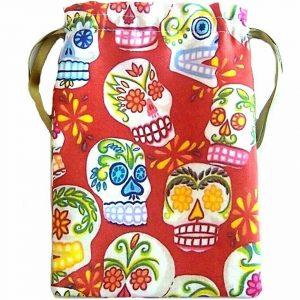 Red Candy Skull Tarot Bag