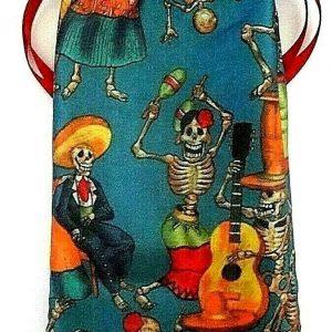 Satin Day of the Dead Tarot Bag
