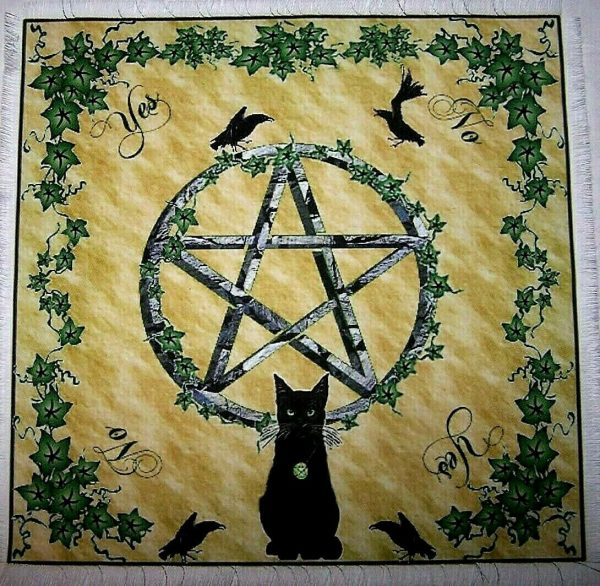 Wiccan Cat Scrying Mat