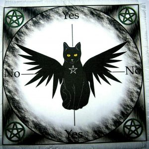 Winged Black Cat Scrying Mat