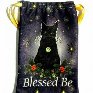 Yule Black Cat Tarot Bag