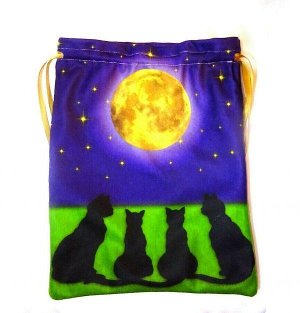 Extra Large Moon Gazing Black Cats Bag