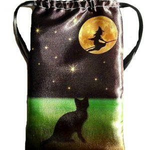 Satin Witches Black Cat Tarot Bag