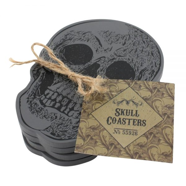 Set of 4 skull coasters 2