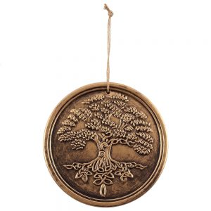 bronze terracotta tree of life plaque