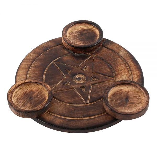 pentagram tea light candle holder 2