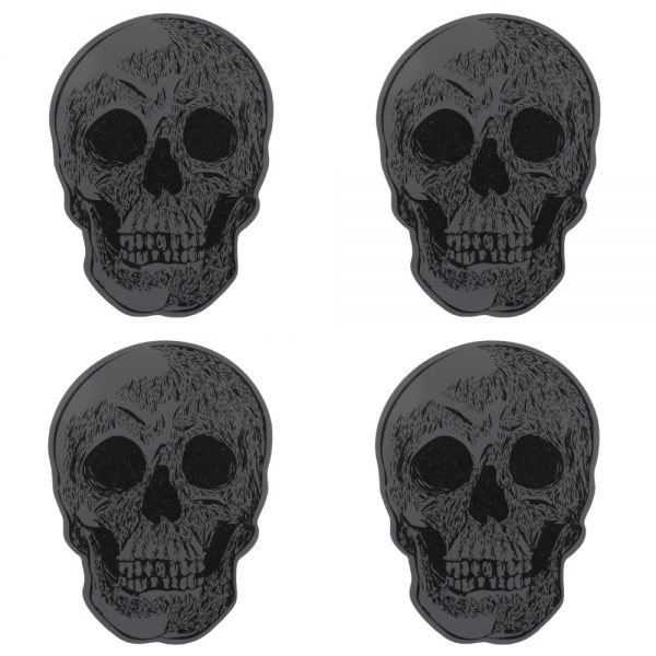 set of 4 skull coasters 3