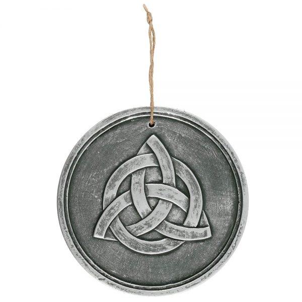 silver effect terracotta triquetra plaque